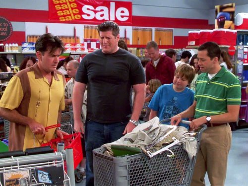 Charlie Sheen, Jon Cryer, Angus T. Jones, and Brian Turk in Two and a Half Men (2003)