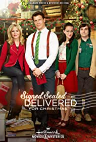 Kristin Booth, Yan-Kay Crystal Lowe, Eric Mabius, and Geoff Gustafson in Signed, Sealed, Delivered for Christmas (2014)