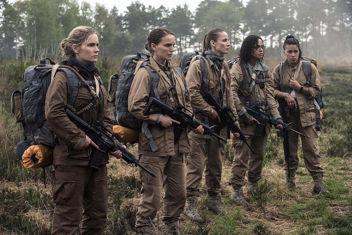 Natalie Portman, Jennifer Jason Leigh, Tuva Novotny, Gina Rodriguez, and Tessa Thompson in Annihilation (2018)