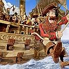 Hugh Grant, Martin Freeman, Brendan Gleeson, Ashley Jensen, and Anton Yelchin in The Pirates! In an Adventure with Scientists! (2012)