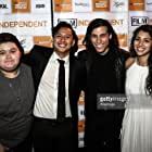 """""""Drowning"""" cast with director Ryan Velasquez for the Premiere at the LA Film Festival."""