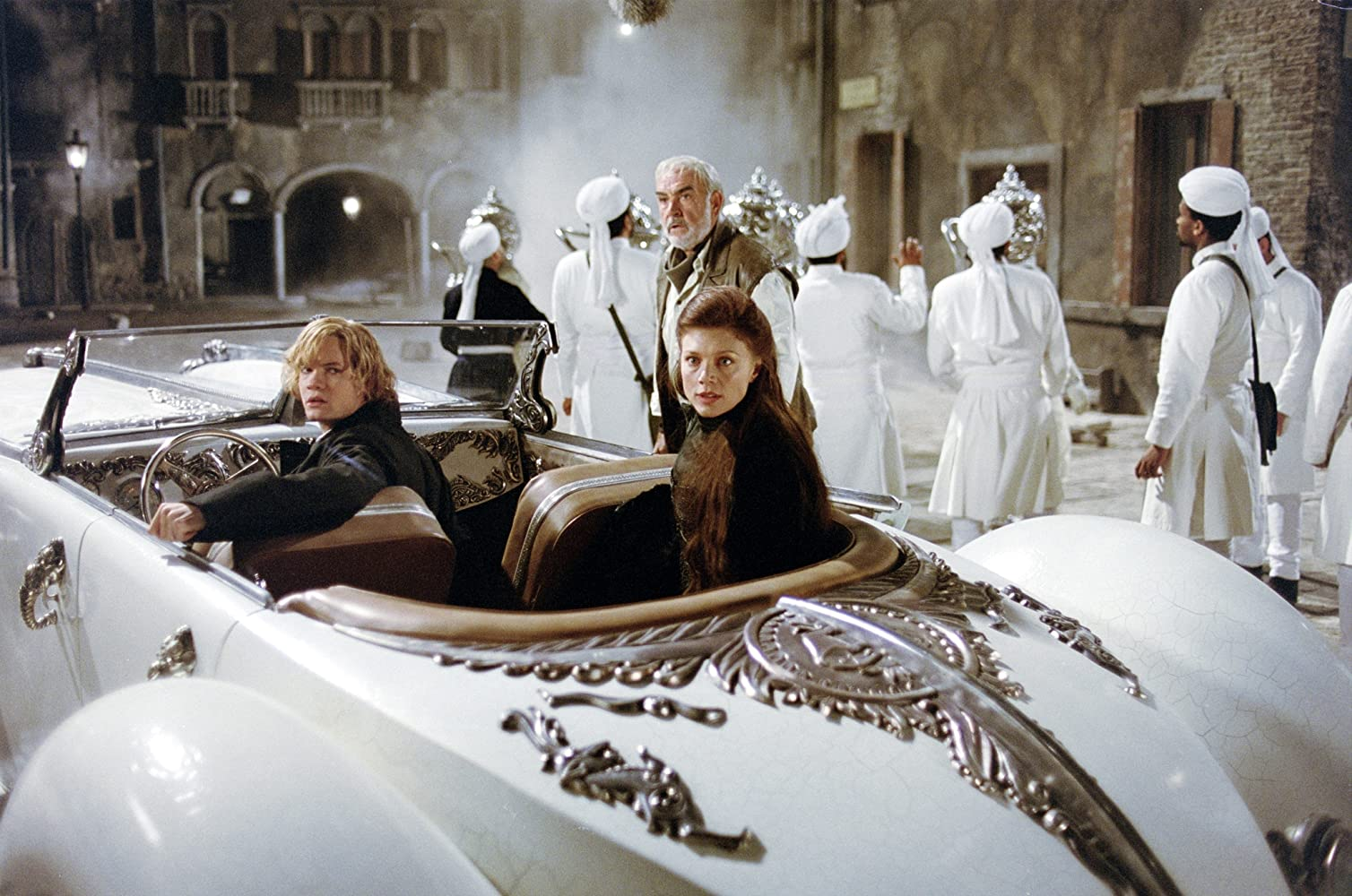 Sean Connery, Shane West, and Peta Wilson in The League of Extraordinary Gentlemen (2003)