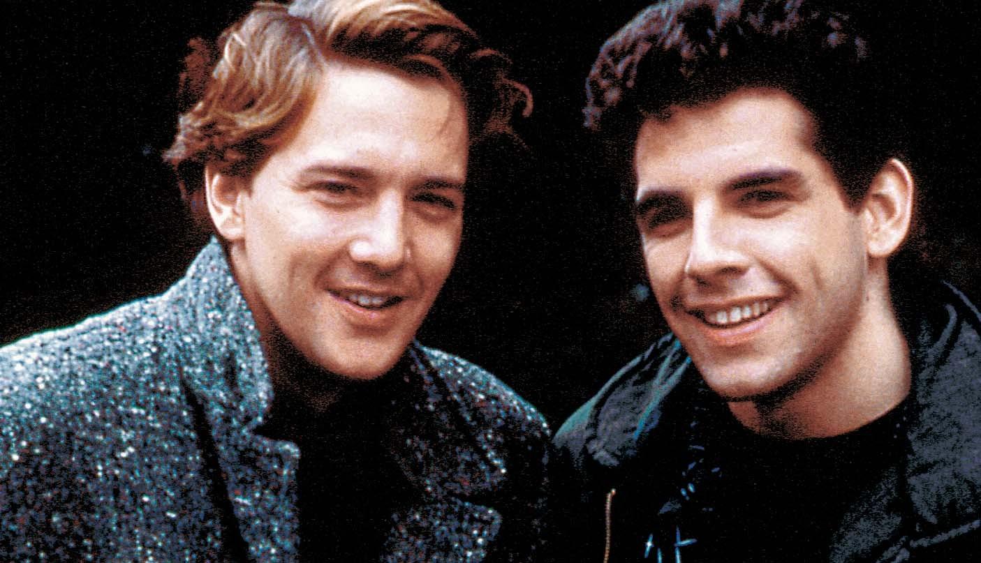 Andrew McCarthy and Ben Stiller in Fresh Horses (1988)