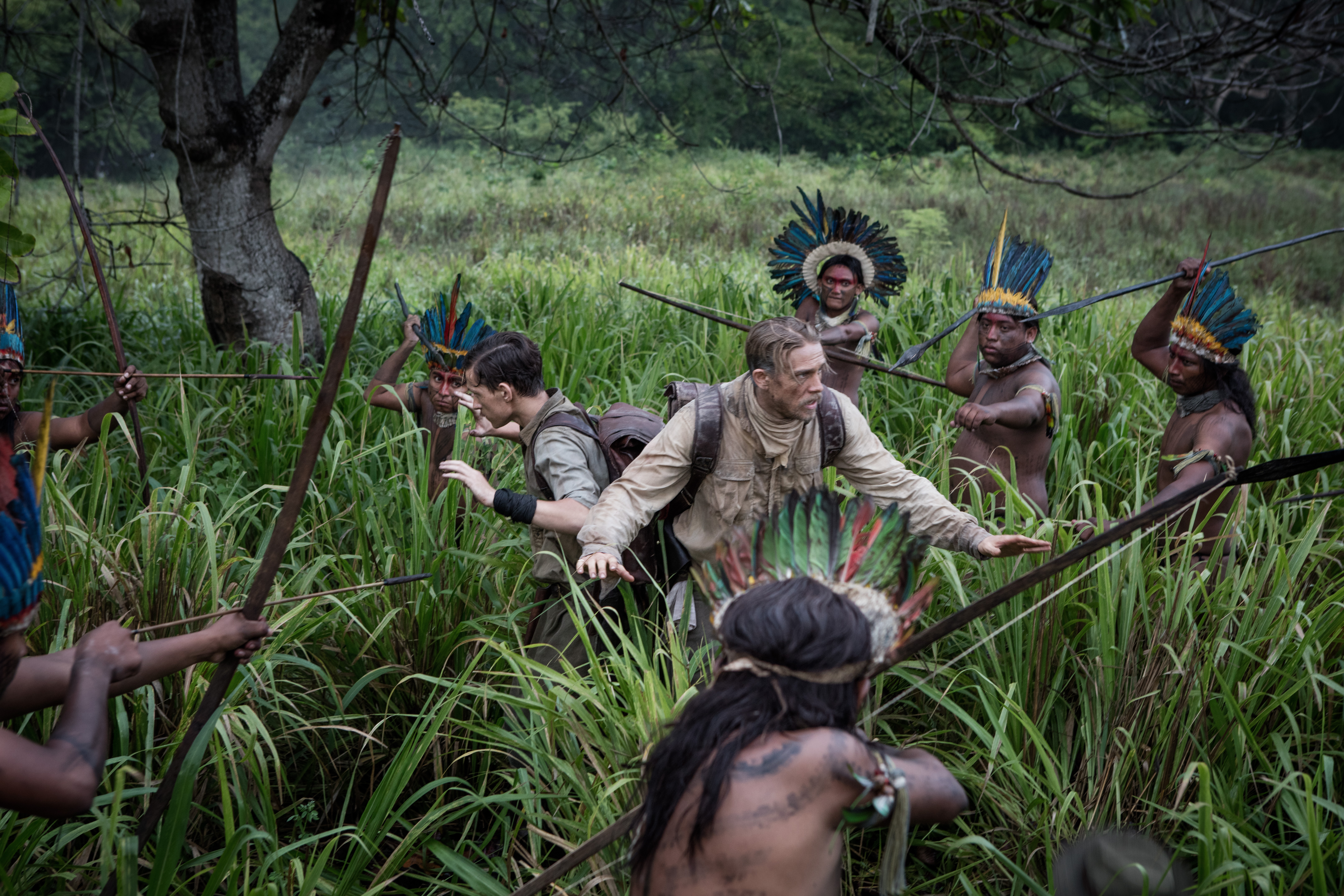 Charlie Hunnam and Tom Holland in The Lost City of Z (2016)