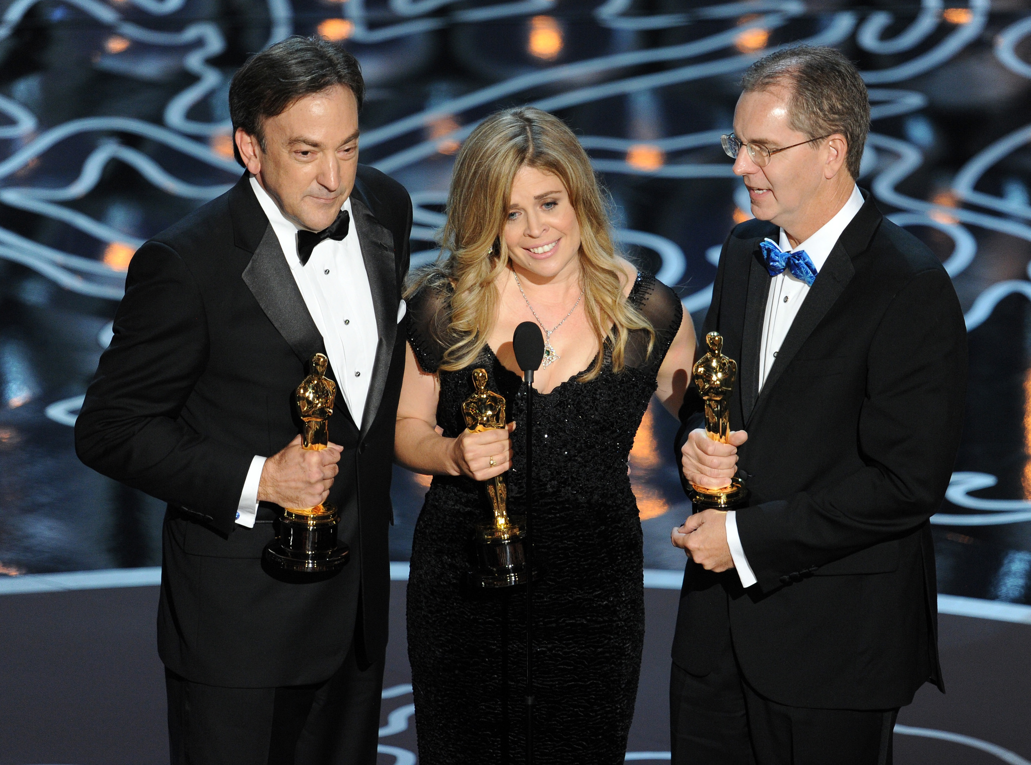 Chris Buck, Peter Del Vecho, and Jennifer Lee at an event for The Oscars (2014)