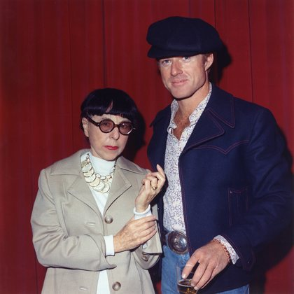 The Sting Robert Redford with Edith Head 1973 Universal