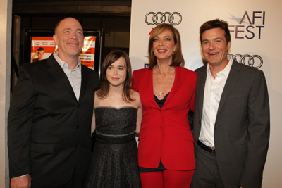 Jason Bateman, Allison Janney, Elliot Page, and J.K. Simmons at an event for Juno (2007)