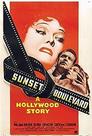 William Holden, Nancy Olson, and Gloria Swanson in Sunset Blvd. (1950)