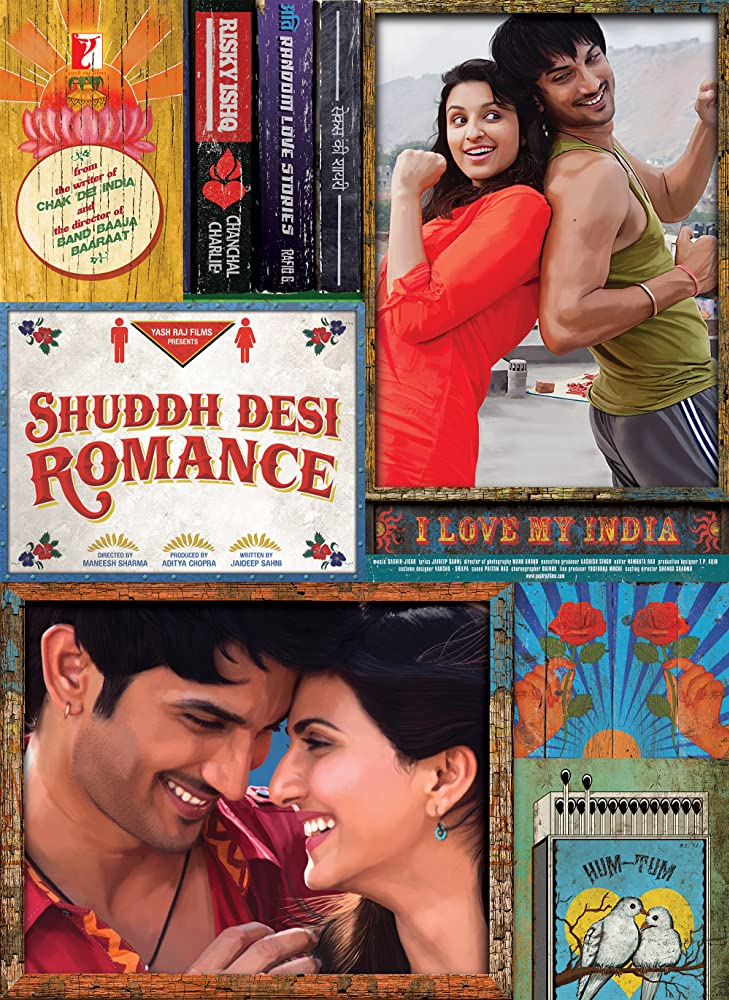 Shuddh Desi Romance 2013 Hindi Movie 400MB BluRay ESubs Download