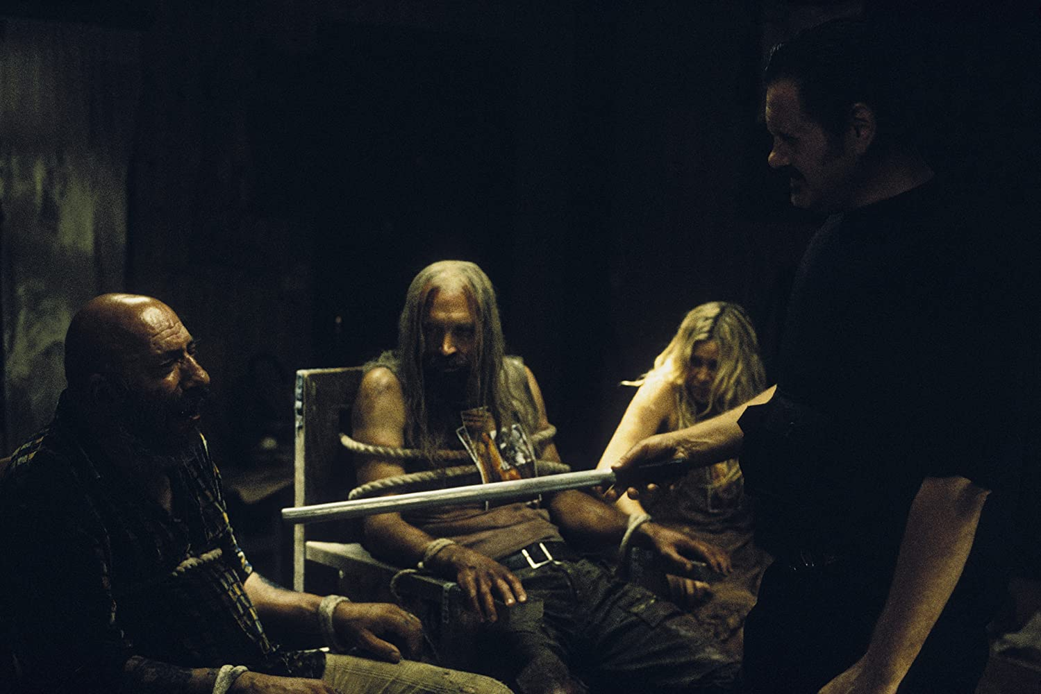 William Forsythe, Sid Haig, Sheri Moon Zombie, and Bill Moseley in The Devil's Rejects (2005)