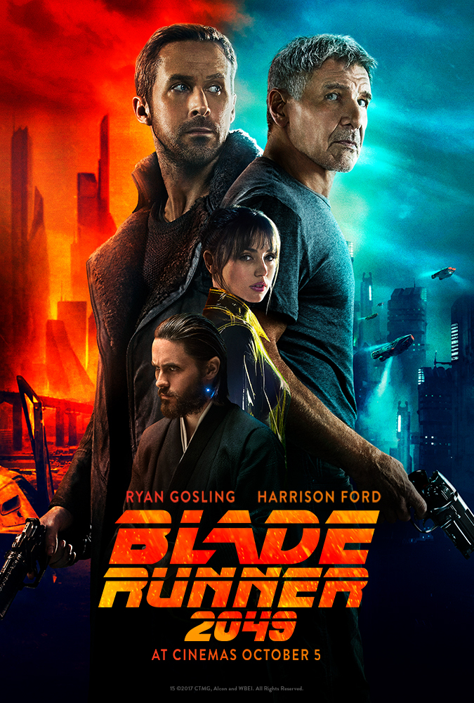 Harrison Ford, Jared Leto, Ryan Gosling, and Ana de Armas in Blade Runner 2049 (2017)