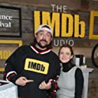 Kevin Smith and Sara Colangelo at an event for The Kindergarten Teacher (2018)
