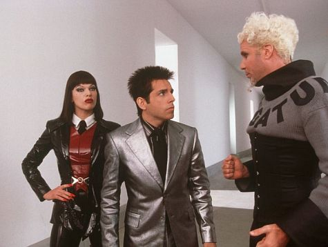 Milla Jovovich, Ben Stiller, and Will Ferrell in Zoolander (2001)