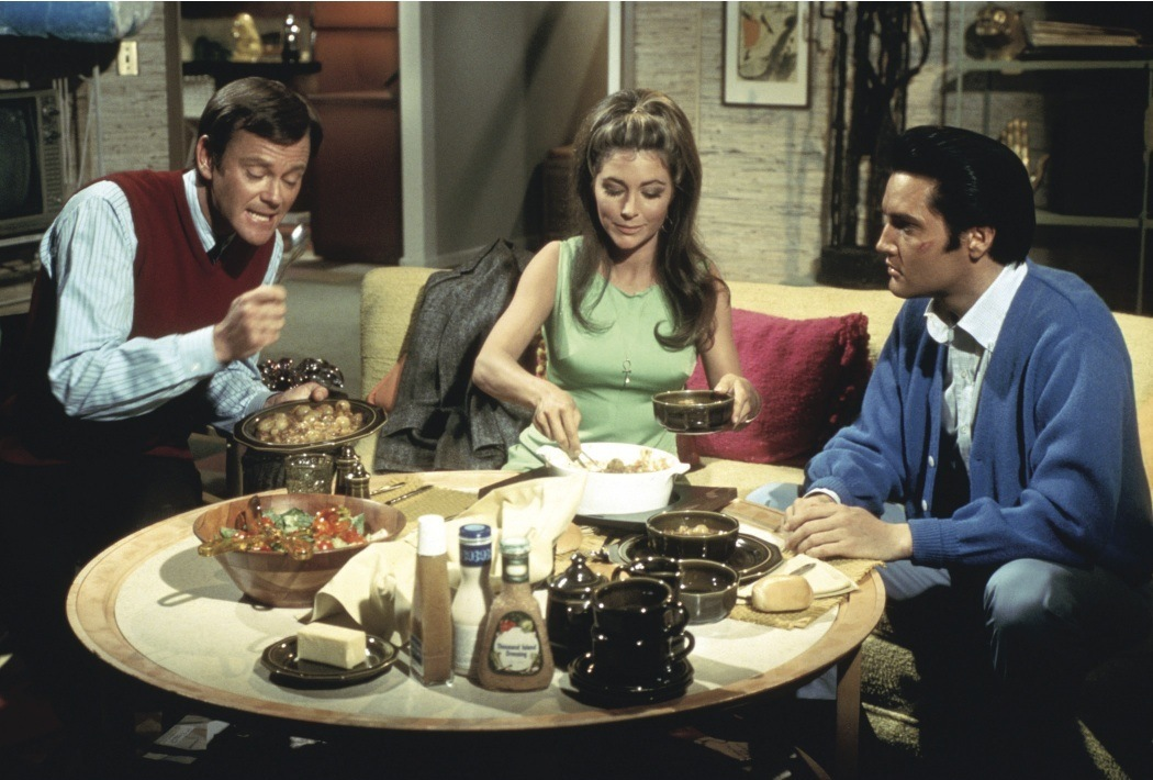 Elvis Presley, Michele Carey, and Dick Sargent in Live a Little, Love a Little (1968)