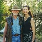 "Willie Nelson & Deborah Smith Ford on set of ""Gone Fishin'"""
