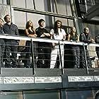 Robert Picardo, Joe Flanigan, David Hewlett, Rachel Luttrell, Paul McGillion, Jason Momoa, Jewel Staite, and Sharon Taylor in Stargate: Atlantis (2004)