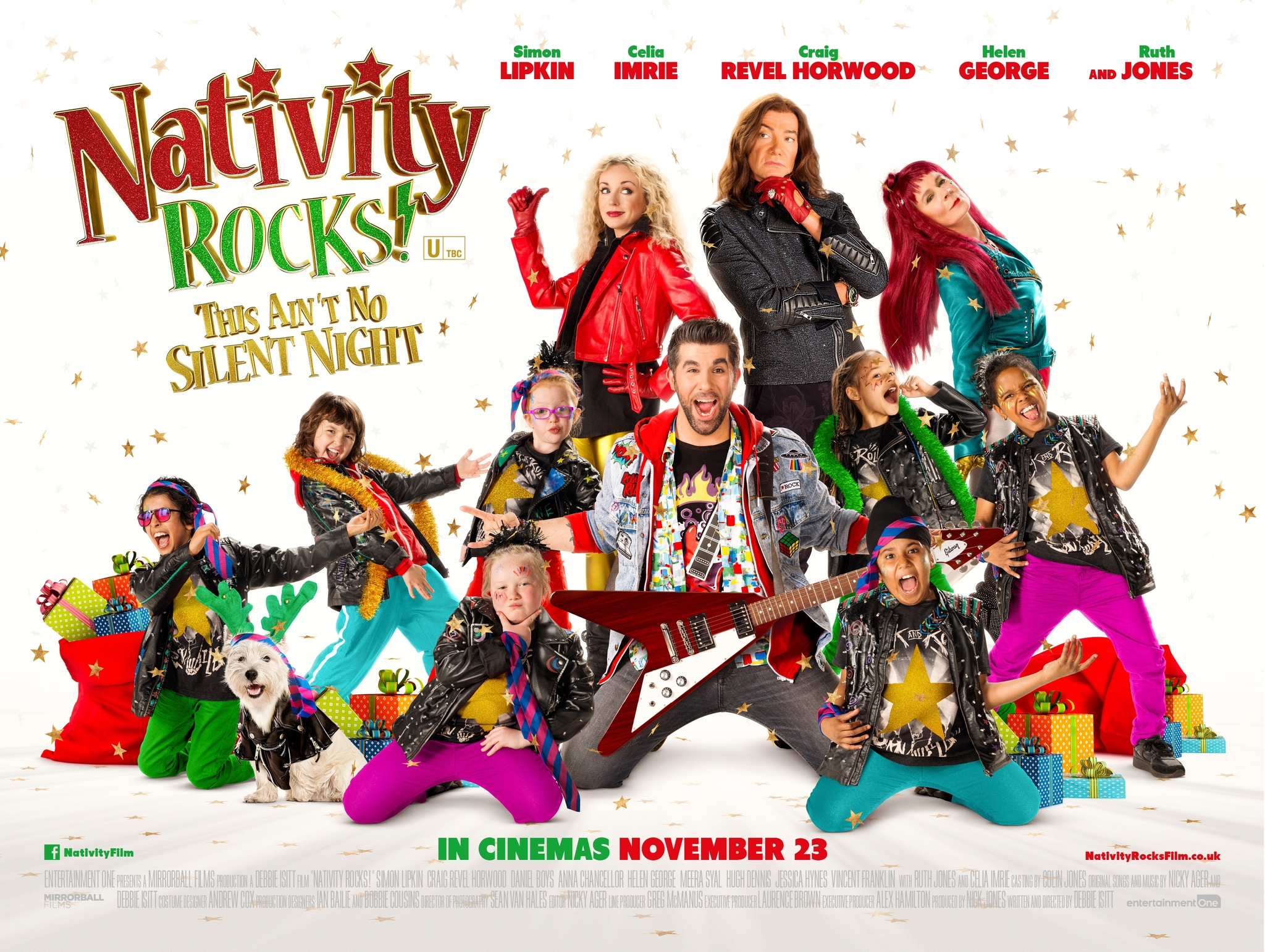 Celia Imrie, Craig Revel Horwood, Helen George, and Simon Lipkin in Nativity Rocks! (2018)