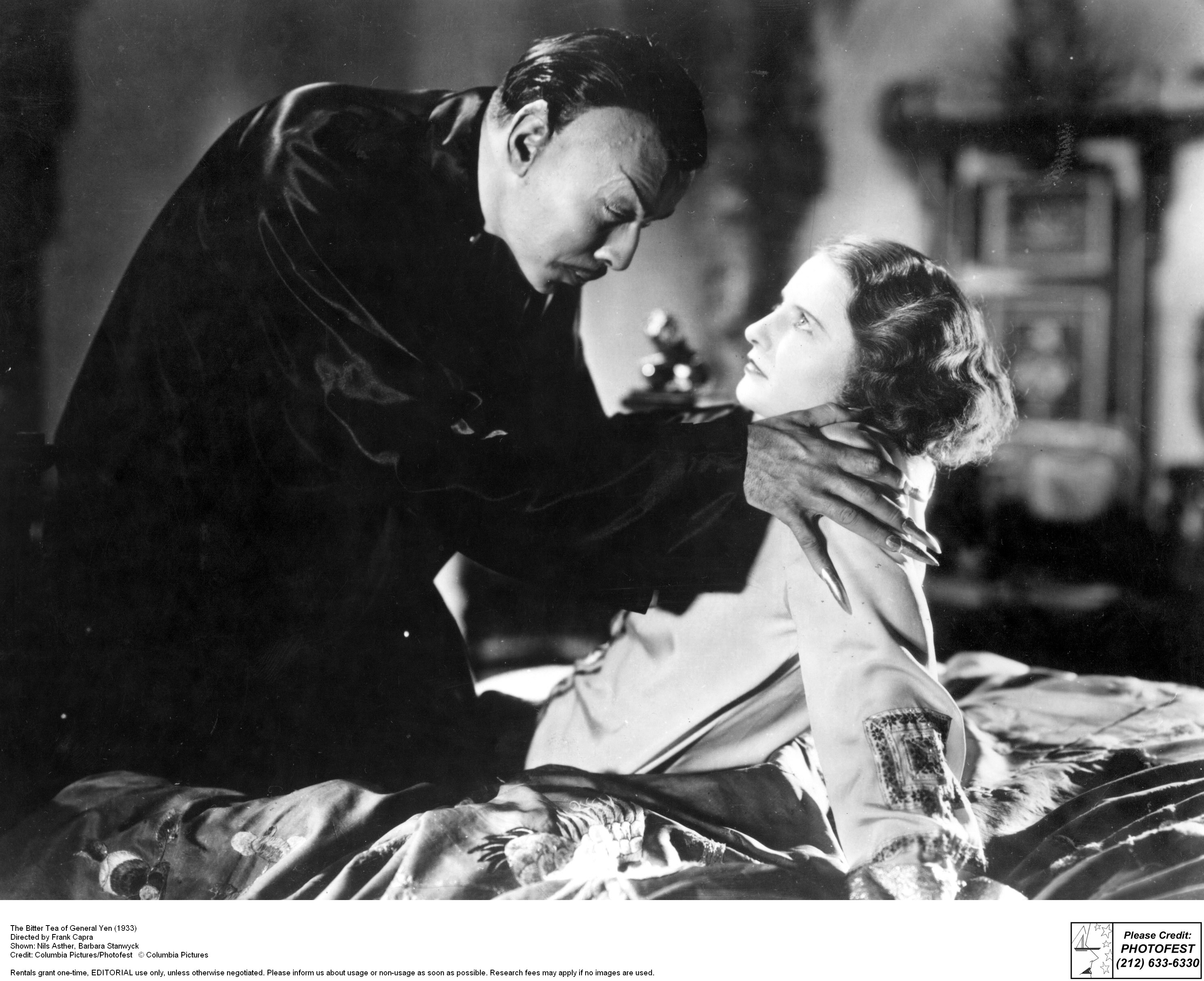 Barbara Stanwyck and Nils Asther in The Bitter Tea of General Yen (1932)