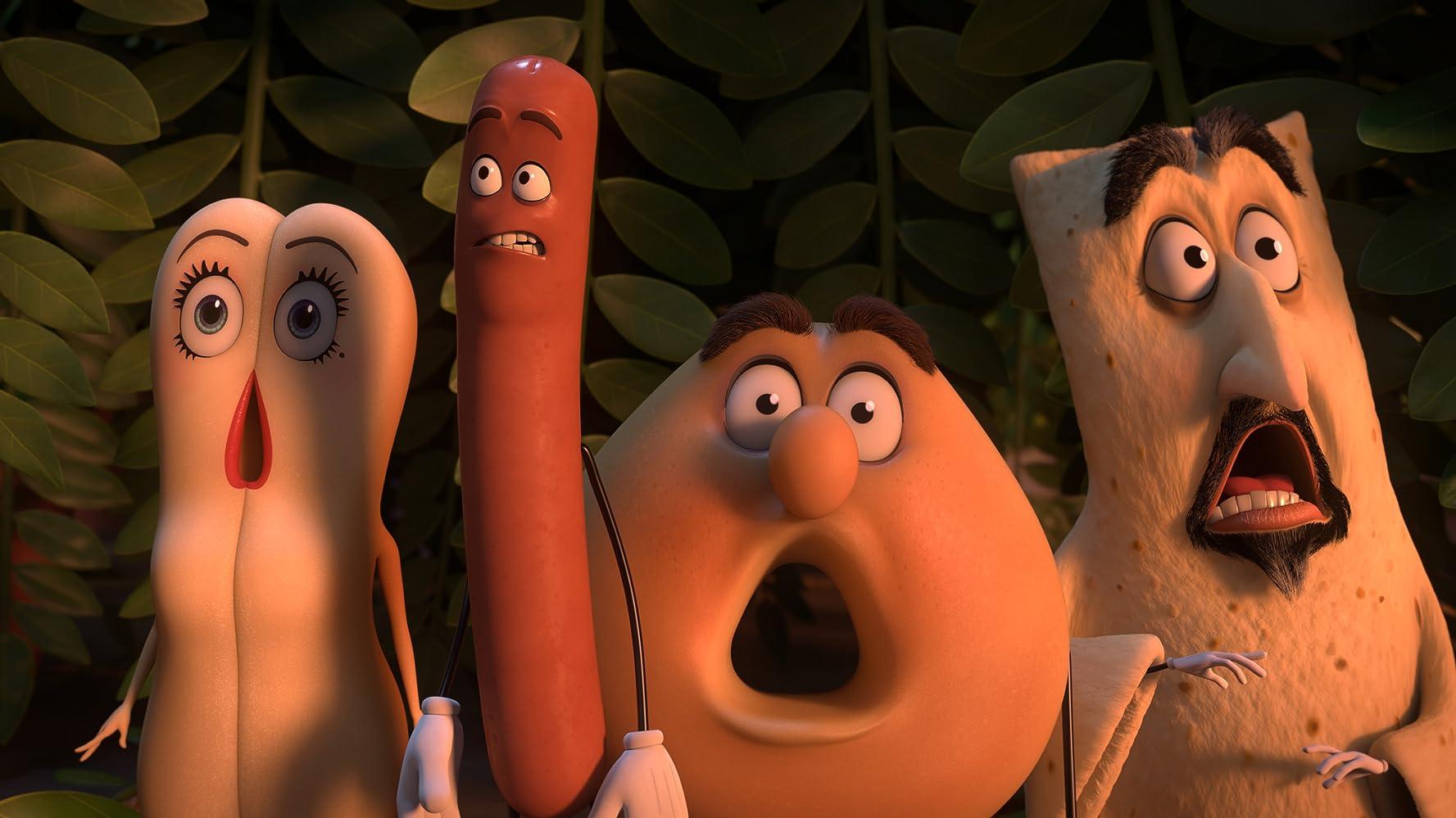 Edward Norton, David Krumholtz, Seth Rogen, and Kristen Wiig in Sausage Party (2016)