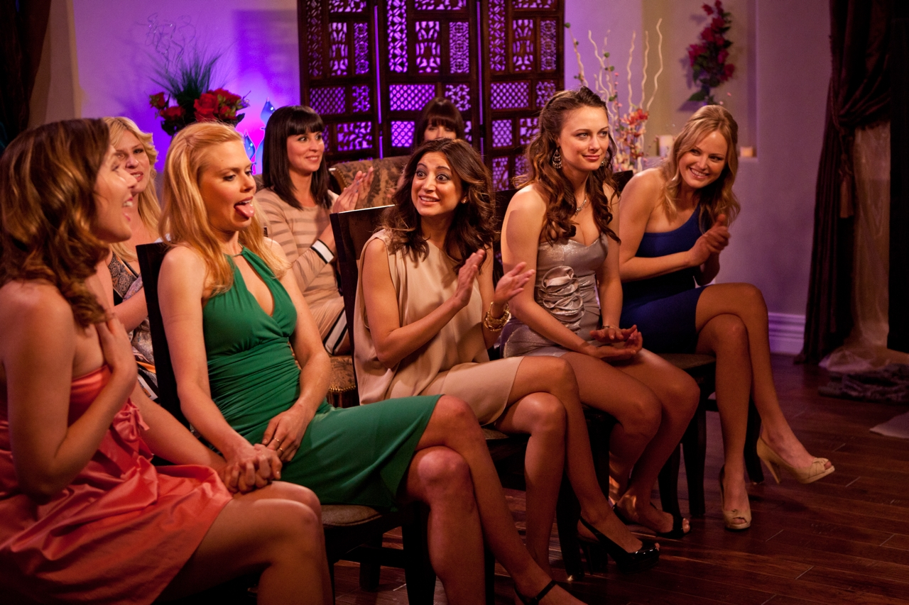 Malin Akerman, Morgan Walsh, Beth Dover, Deanna Russo, Natasha Leggero, Janet Varney, Noureen DeWulf, and June Diane Raphael in Burning Love (2012)