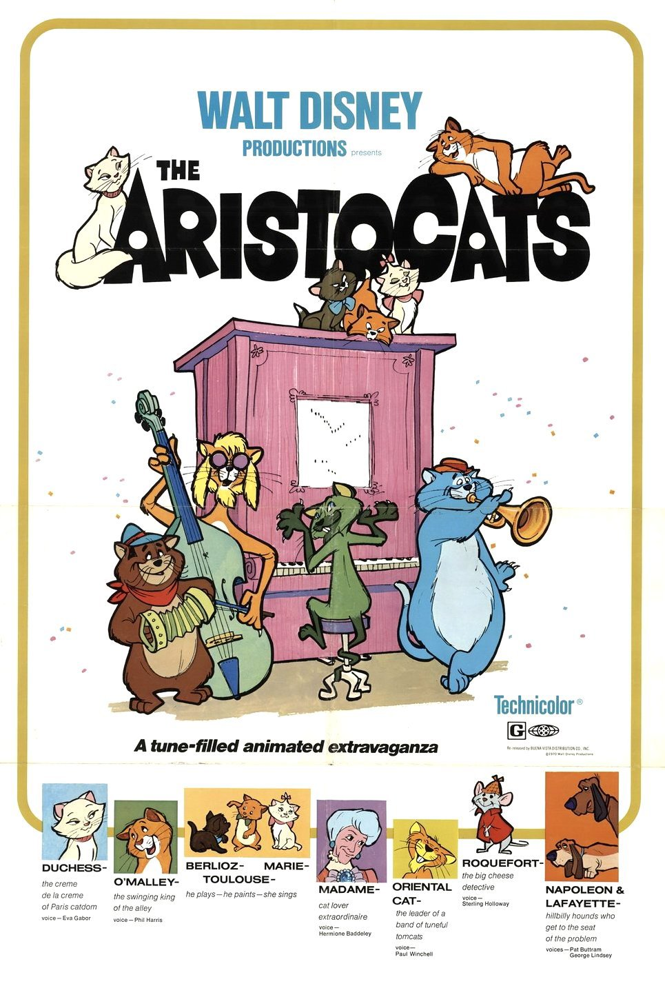 The Aristocats (1970) BluRay 480p, 720p & 1080p