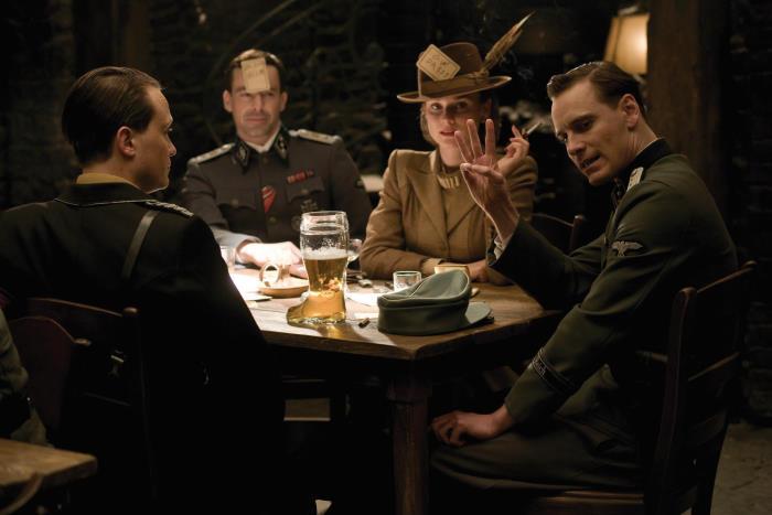 Gedeon Burkhard, August Diehl, Michael Fassbender, and Diane Kruger in Inglourious Basterds (2009)