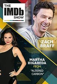 Zach Braff and Martha Higareda in The IMDb Show (2017)