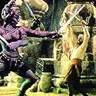John Phillip Law and Ferdinando Poggi in The Golden Voyage of Sinbad (1973)