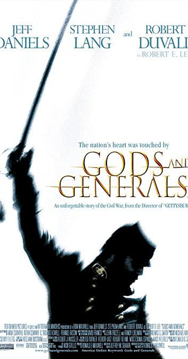 Subtitle of Gods and Generals