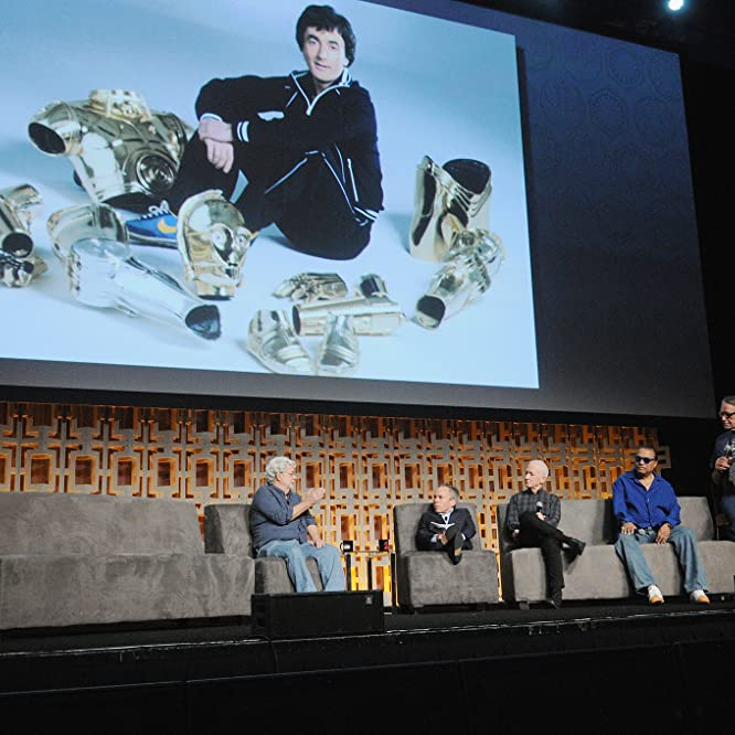 George Lucas, Anthony Daniels, Warwick Davis, Billy Dee Williams, and Peter Mayhew