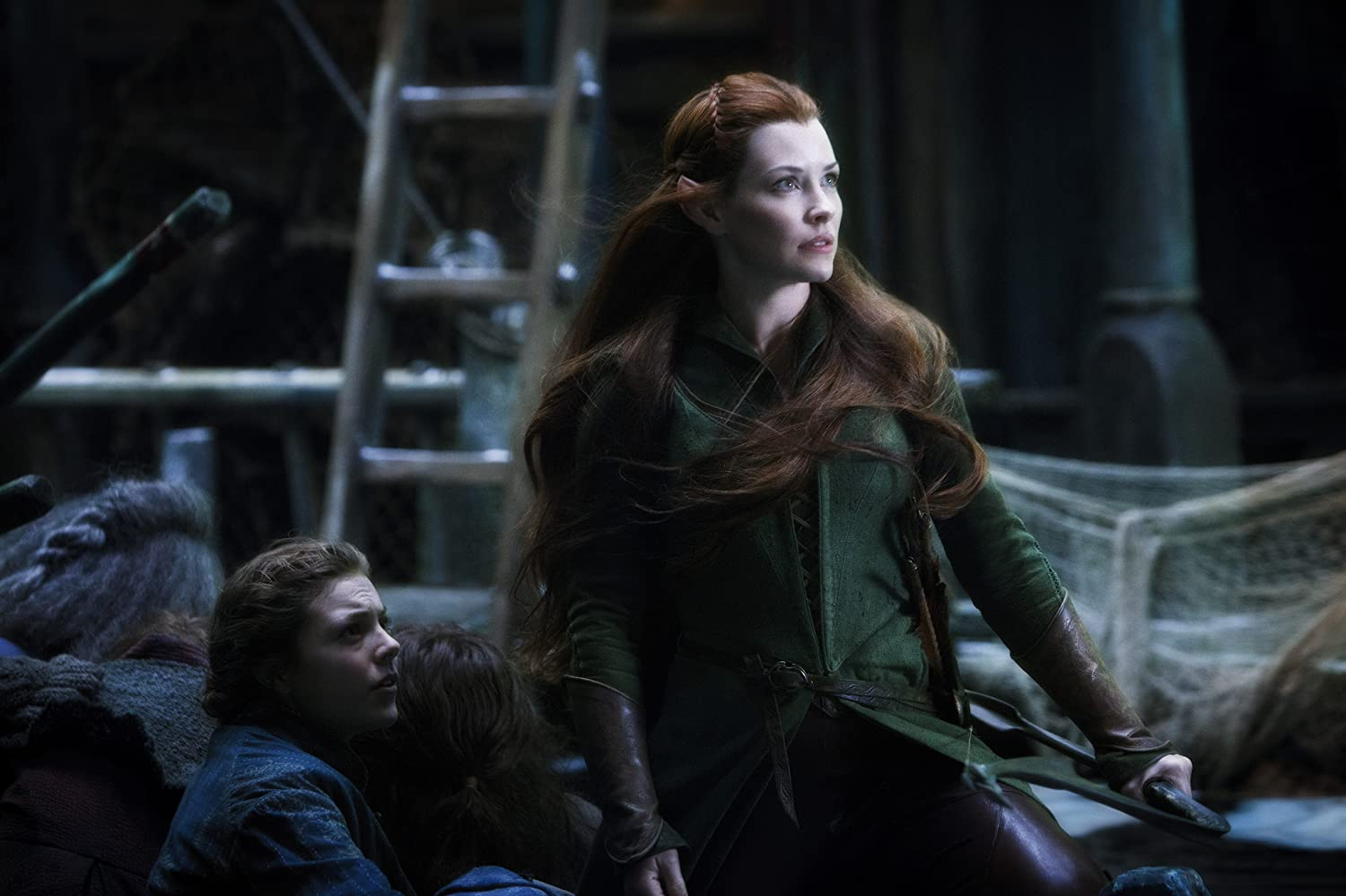 Evangeline Lilly and Peggy Nesbitt in The Hobbit: The Battle of the Five Armies (2014)