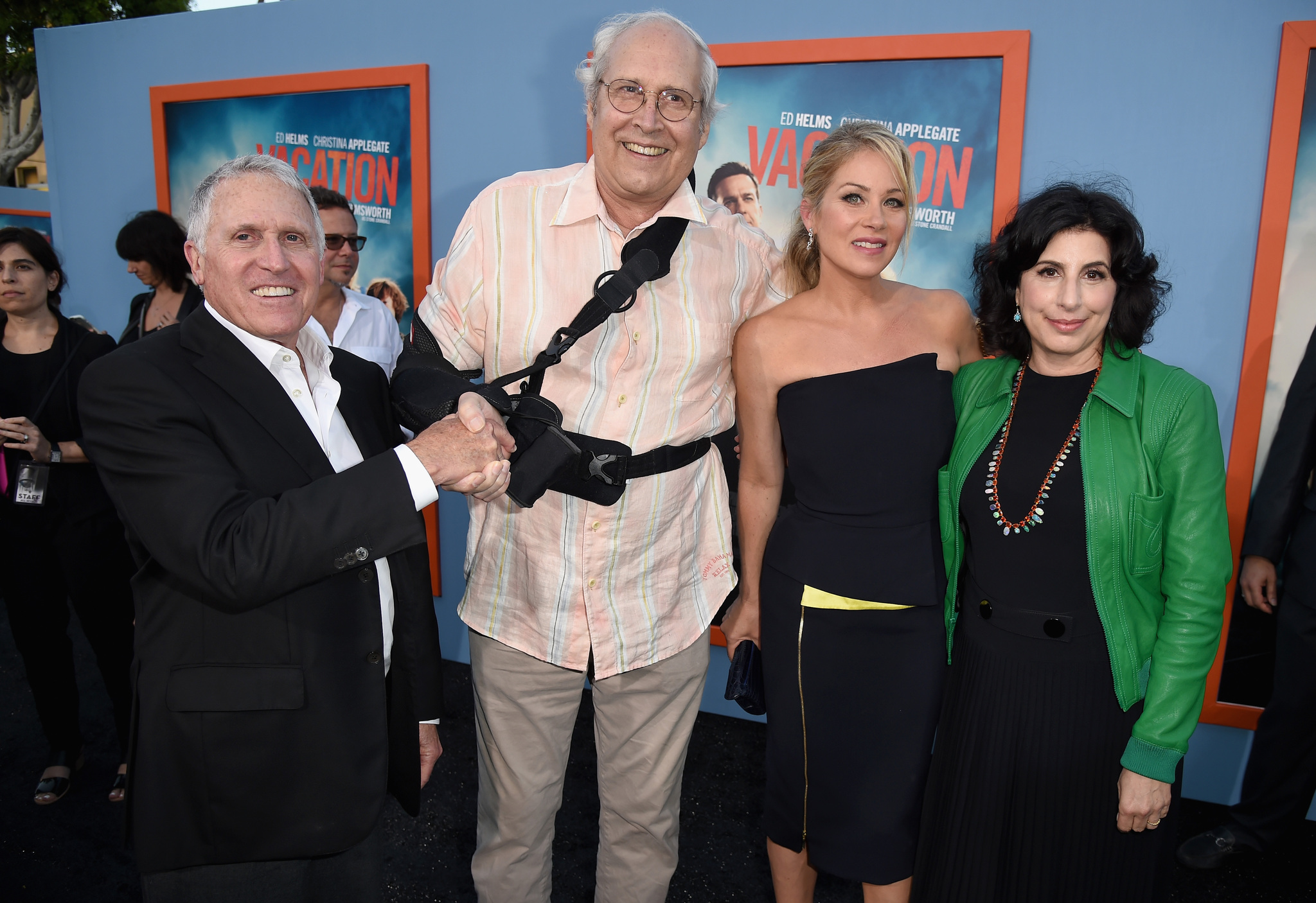 Chevy Chase, Christina Applegate, Dan Fellman, and Sue Kroll at an event for Vacation (2015)
