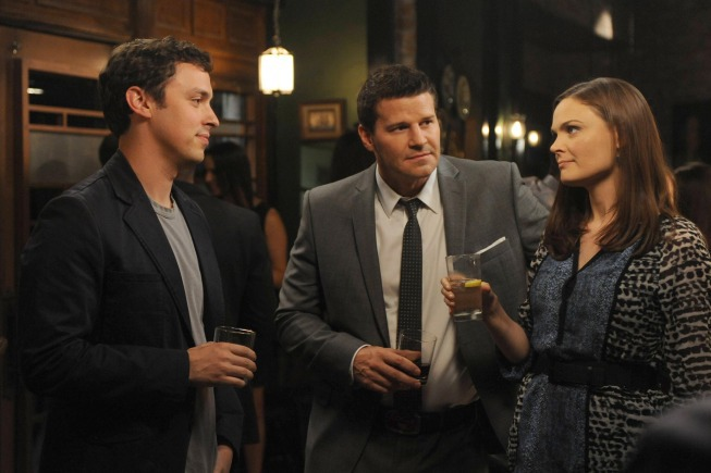 David Boreanaz, John Francis Daley, and Emily Deschanel in Bones (2005)