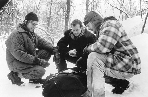 Bill Paxton, Billy Bob Thornton, and Brent Briscoe in A Simple Plan (1998)