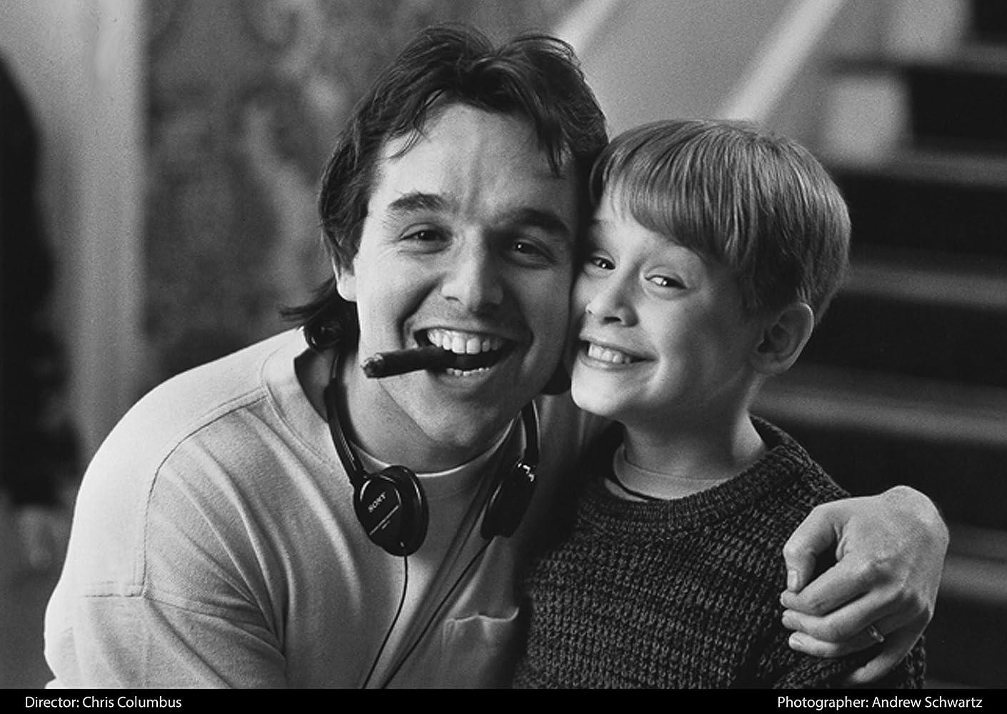 Macaulay Culkin and Chris Columbus in Home Alone 1990