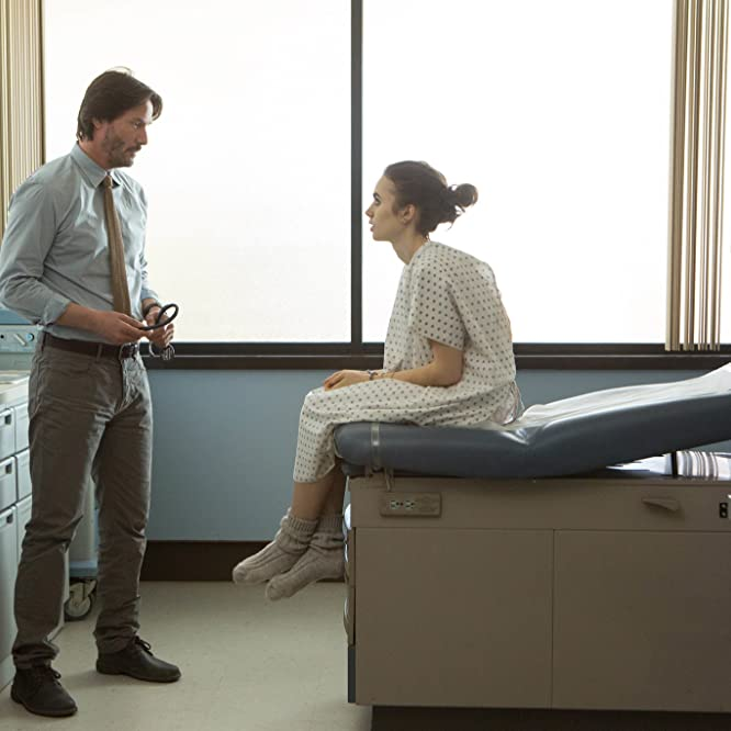 Keanu Reeves and Lily Collins in To the Bone (2017)