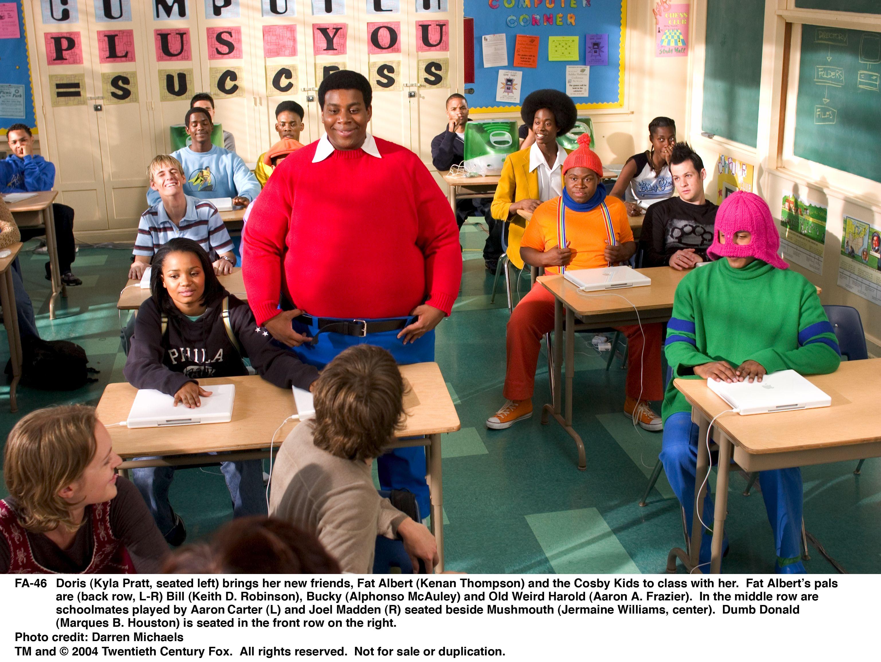 Aaron Carter, Aaron Frazier, Kyla Pratt, Keith Robinson, Kenan Thompson, Jermaine Williams, Joel Madden, and Alphonso McAuley in Fat Albert (2004)