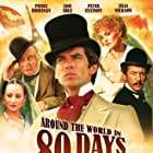 Pierce Brosnan, Eric Idle, Peter Ustinov, Arielle Dombasle, and Julia Nickson in Around the World in 80 Days (1989)