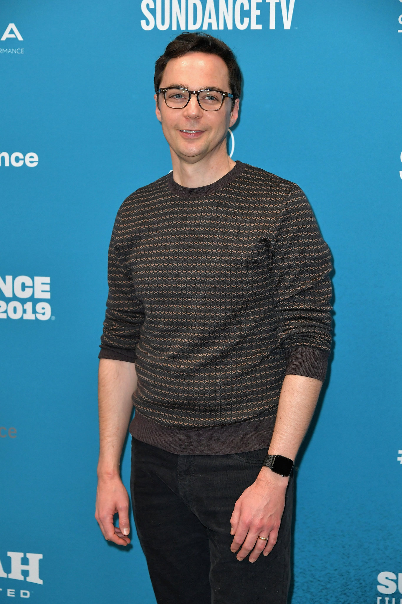 Jim Parsons at an event for Extremely Wicked, Shockingly Evil and Vile (2019)