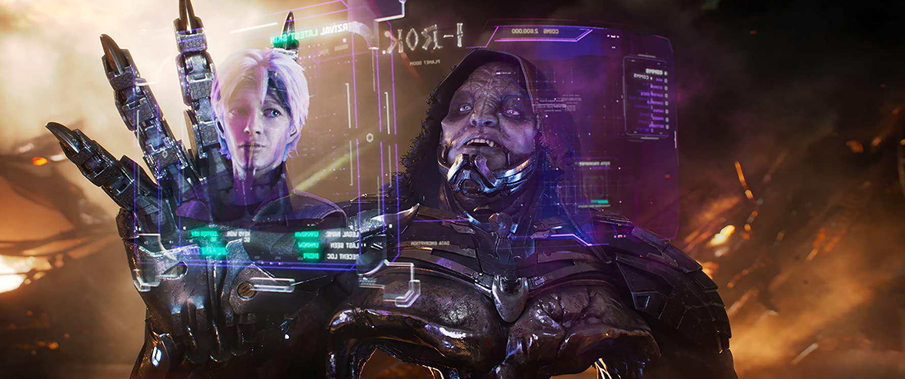 T.J. Miller and Tye Sheridan in Ready Player One (2018)