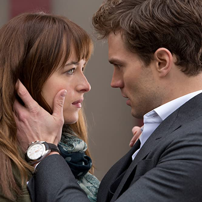 Dakota Johnson and Jamie Dornan in Fifty Shades of Grey (2015)