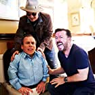 Johnny Depp, Warwick Davis, and Ricky Gervais in Life's Too Short (2011)