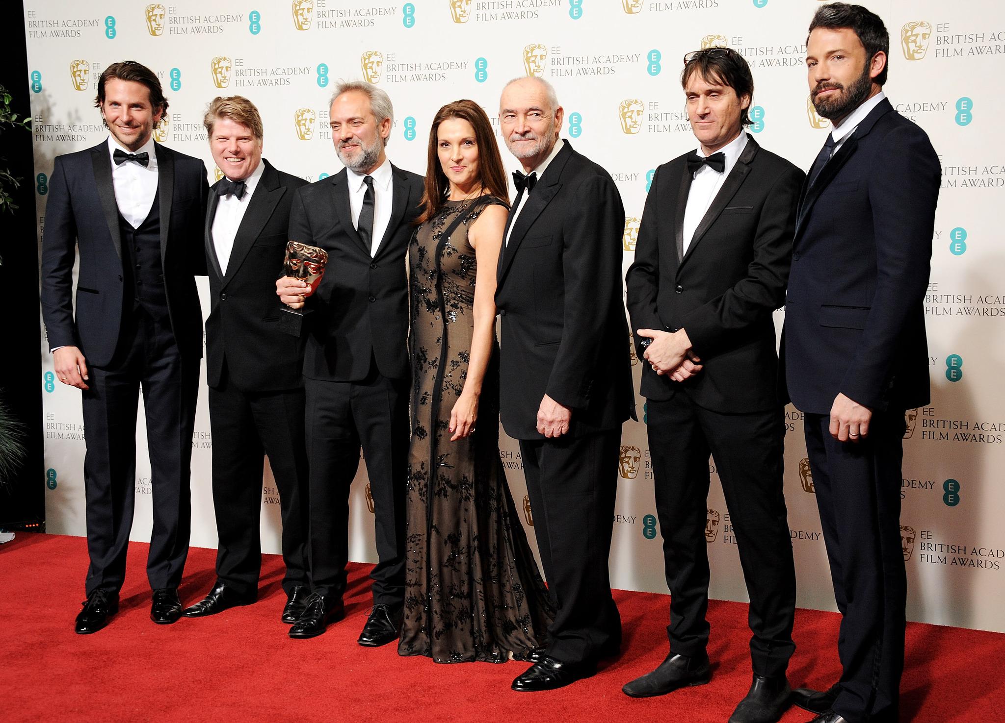 Ben Affleck, Sam Mendes, Barbara Broccoli, Bradley Cooper, Neal Purvis, Robert Wade, and Michael G. Wilson
