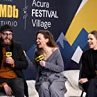Hilary Swank, Grant Sputore, and Clara Rugaard at an event for The IMDb Studio at Sundance (2015)