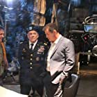 Robert Reynolds as General Callahan on set with Director Mitch Gould (left) and Michael Paré (right)