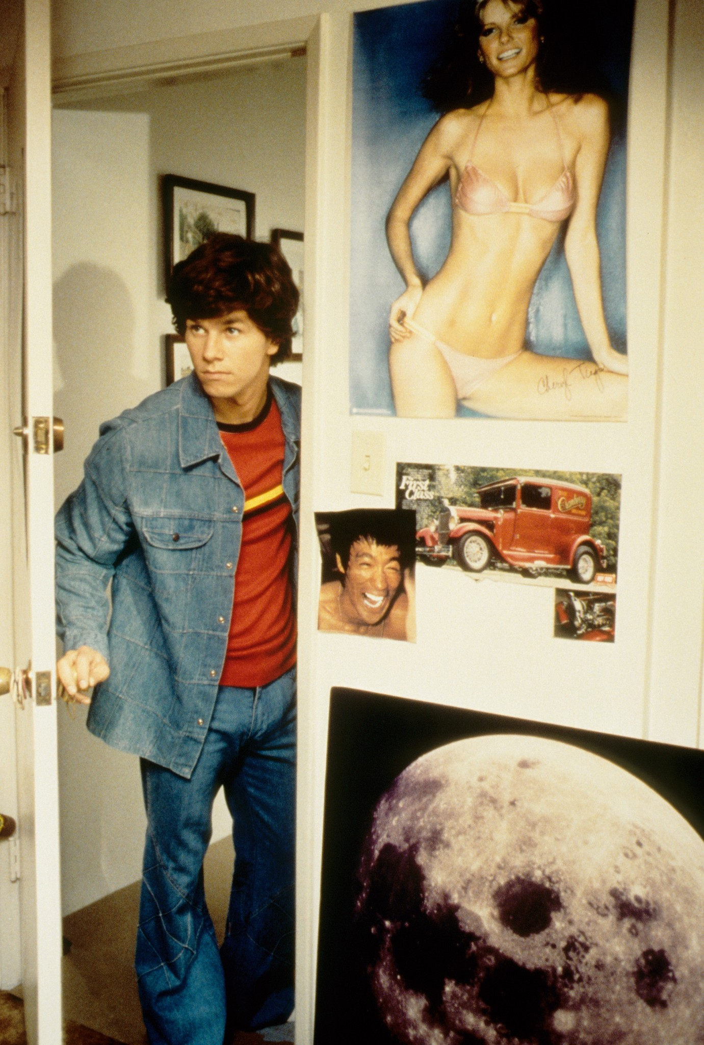 Mark Wahlberg and Cheryl Tiegs in Boogie Nights (1997)