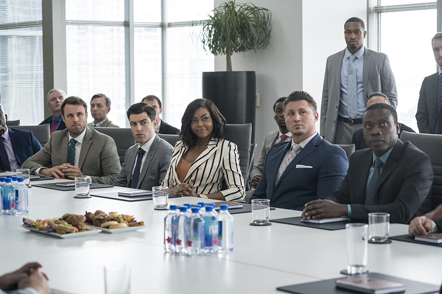 Max Greenfield, Taraji P. Henson, and Chris Witaske in What Men Want (2019)