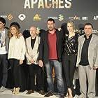 Eloy Azorín, Daniel Calparsoro, Emilio A. Pina, Paco Tous, Sonia Martínez, Miguel Sáez Carral, Alberto Ammann, and Ingrid García Jonsson at an event for Apaches (2015)