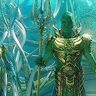 Djimon Hounsou, Natalia Safran, Andrew Crawford, and Sophia Forrest in Aquaman (2018)