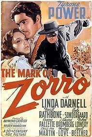 Tyrone Power, Linda Darnell, Basil Rathbone, Montagu Love, Janet Beecher, J. Edward Bromberg, Chris-Pin Martin, Eugene Pallette, George Regas, and Gale Sondergaard in The Mark of Zorro (1940)